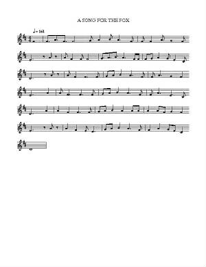 A Song For The Fox Fureys Sheet Music