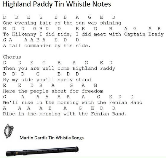 Highland Paddy Tin Whistle Music