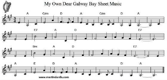 My Own Dear Galway Bay Sheet Music