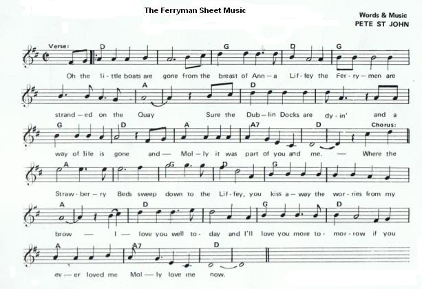 fFerryman Sheet Music
