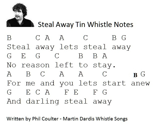 steal away tin whistle music